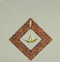 Max steiner origami crane necklace
