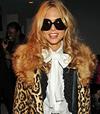 Rachel zoe leopard fur coat