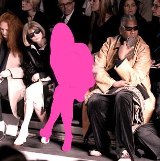 Fashion week front row bloggers