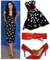 Demi moore polka dot dress