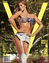 Gisele v magazine shredded denim