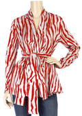 White red zebra print blouse