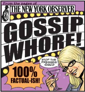 Gossip columnist illustration