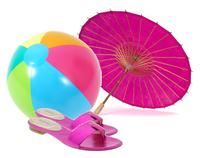 Bright pink summer sandals