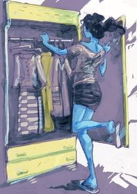 Cleaning closet illustration