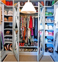 Organized streamlined closet