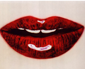 Red black glossy lips lancome