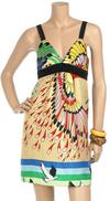 Chic bright print mini dress