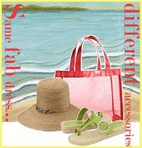 Chic beach accessories