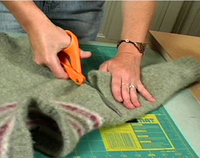 Cutting sweater