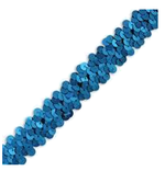 Blue sequin trim
