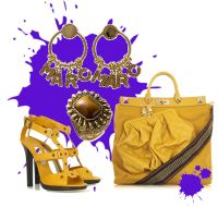 Yellow accessories tote