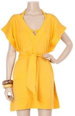 Bright yellow beach coverup