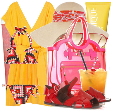 Cute beach resortwear