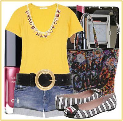 Yellow tee summer chic