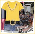 Yellow tee summer chic