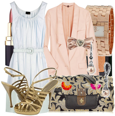 Fashiontribes.com Fashion Blog - Style, Beauty, Luxury Lifestyle & Shopping: Be Peachy Keen in a Pastel Boyfriend Blazer