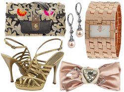 Bronze tone accessories