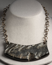 Tribal horn statement necklace