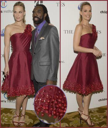 Kevan hall cranberry dress