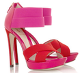 Red hot pink sandals