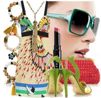 Fashiontribes.com Fashion Blog - Style, Beauty, Luxury Lifestyle & Shopping: Strut Your Stuff in a Bright Print & Bold Accessories