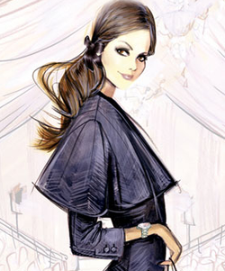 Timex watch fashion illustration