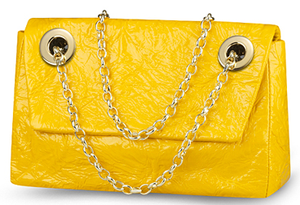 Bright yellow bag purse