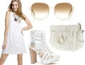 Summer white dresses shoes