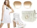 Summer white dresses shoes