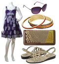 Cute purple sundress accessories