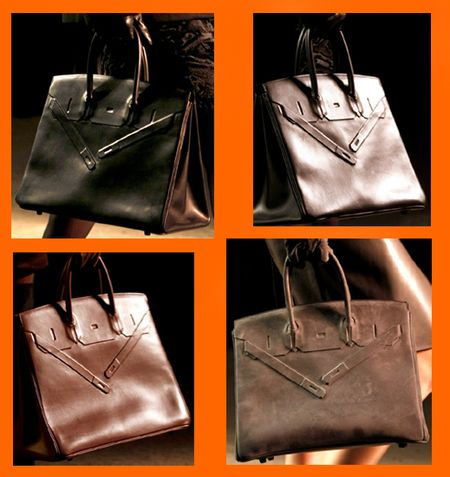 Hermes shadow birkin bag