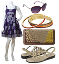 Cute purple sun dress look