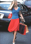 Carrie bradshaw blue red dress