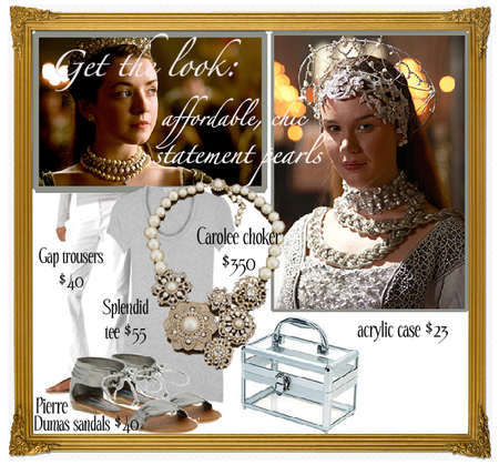 Tudors inspired fashion pearls