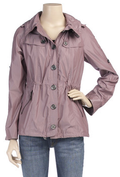 Short mauve trench coat