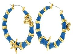 Blue hoop earrings