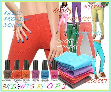 Bright denim jeans