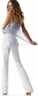 White summer jeans denim