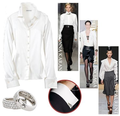 Fall fashion trend white blouses