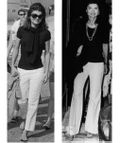Jackie o white denim jeans pants