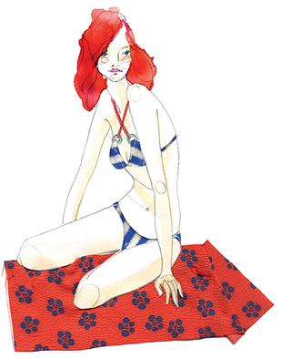 Bikini fashion illustration