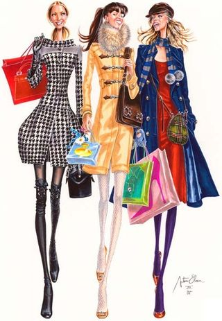 Fall winter fashion illustration