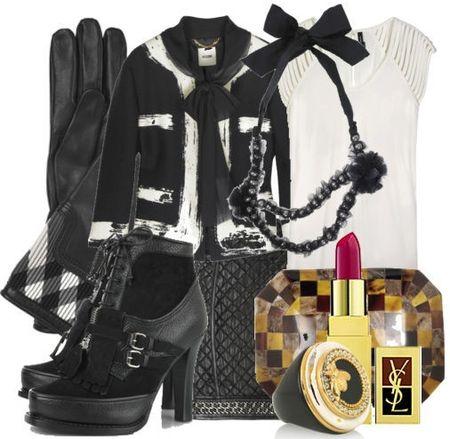 Black white chanel jacket fall fashion