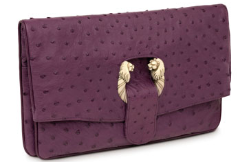 Bulgari bvlgari purple clutch