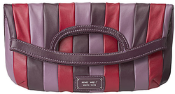 Nine west striped trail mix clutch