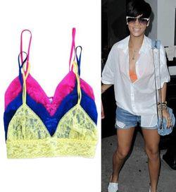 Rihanna bright bra