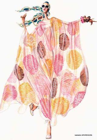 Summer fashion illustration