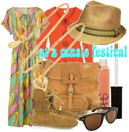 Music festival fashion style