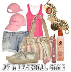 Baseball game fashion style
